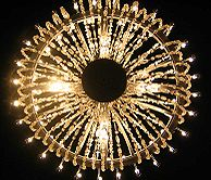 Chandelier in st. Kinga chapel