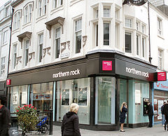 Oficina de Northern Rock en Newcastle upon Tyne.