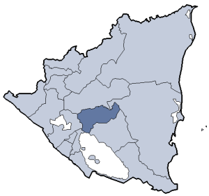 Location of Boaco department